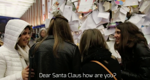 Christmas letters in the station